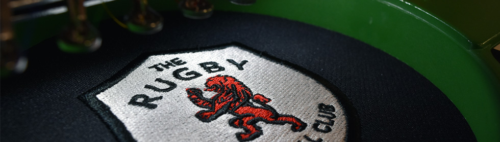 Rugby Lions Embroidered Badge